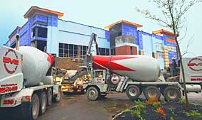 commercial concrete project